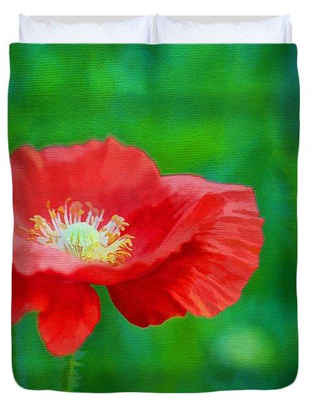 Spring Poppy Duvet Cover by Darren Fisher