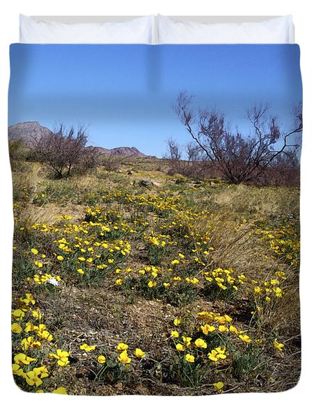 Spring Surprise Franklin Mountains Duvet Cover by Kurt Van Wagner