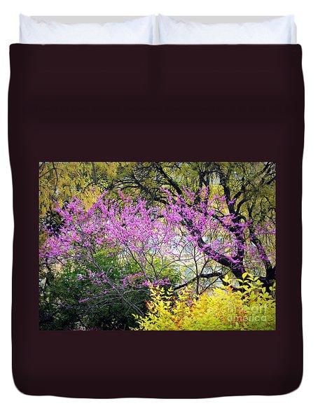 Spring Trees In San Antonio Duvet Cover