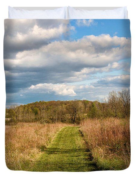 Spring's Mowed Path Duvet Cover by Rachel Cohen