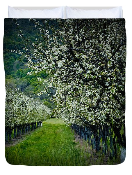 Springtime In The Orchard II Duvet Cover