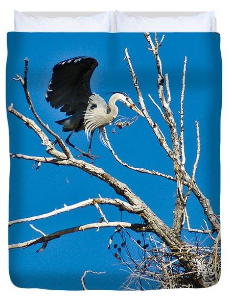 Springtime Nesting In Colorado Duvet Cover
