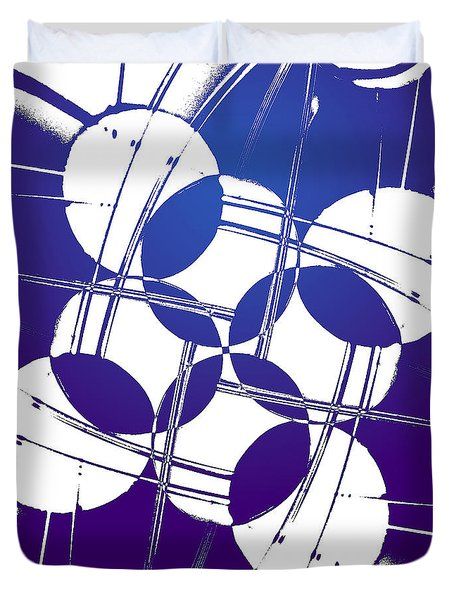 Duvet Cover featuring the photograph Square Circles by Lauren Radke