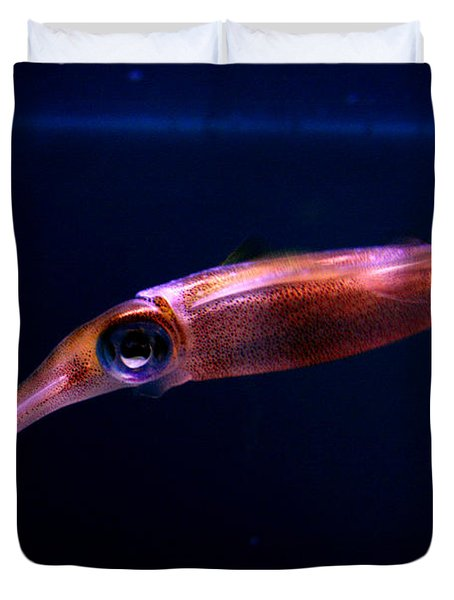Squid In Pink Duvet Cover