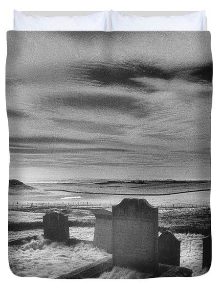 St Aidans Churchyard Duvet Cover by Simon Marsden