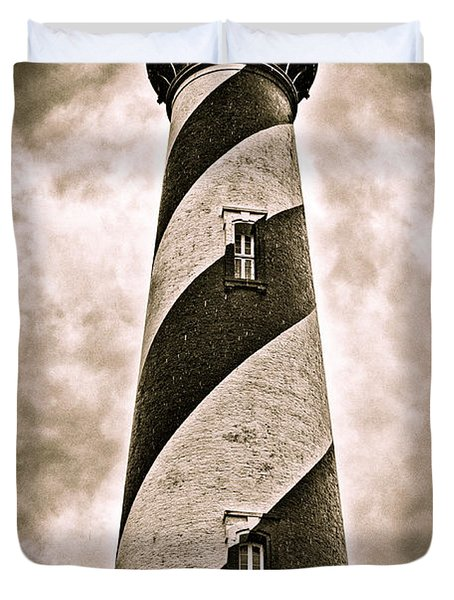 Duvet Cover featuring the photograph St Augustine Lighthouse by Bill Howard