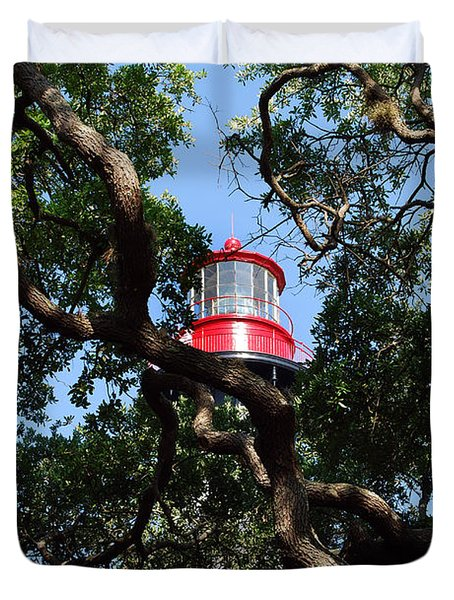 St Augustine Tree House Duvet Cover by Skip Willits