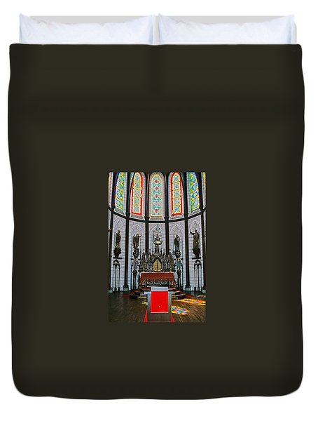 St. Francis Xavier Cathedral  Duvet Cover by Juergen Weiss