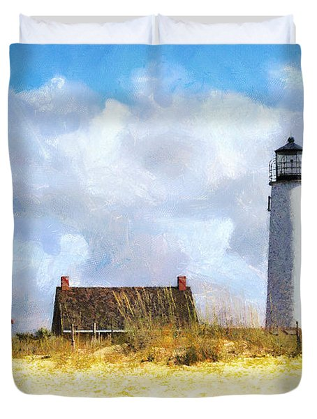 St. George Island Lighthouse Duvet Cover