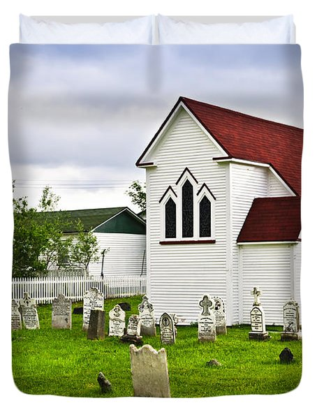 St. Luke's Church In Placentia Newfoundland Duvet Cover by Elena Elisseeva