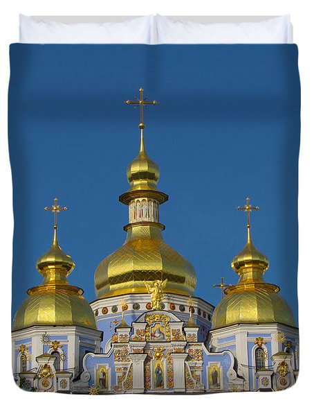 Duvet Cover featuring the photograph St. Michael's Cathedral by David Gleeson