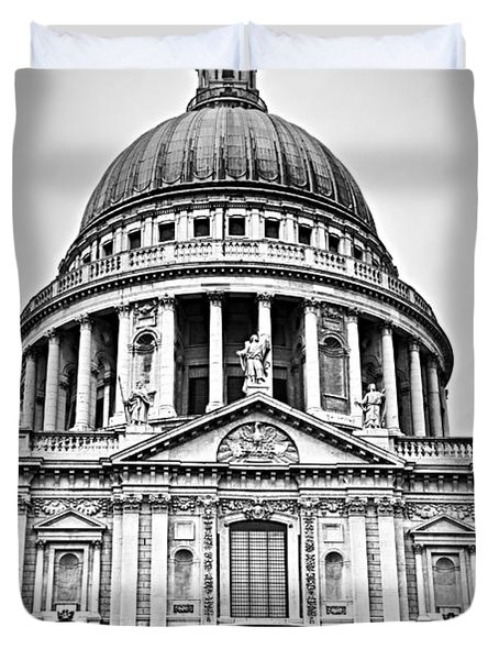 St. Paul's Cathedral In London Duvet Cover by Elena Elisseeva
