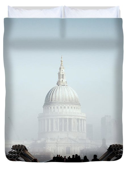 St Paul's Cathedral Duvet Cover by Pixel  Chimp
