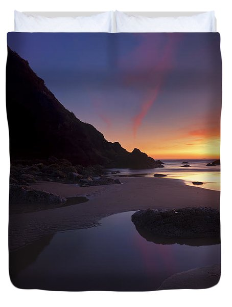 Stacked Reflections Duvet Cover by Mike  Dawson