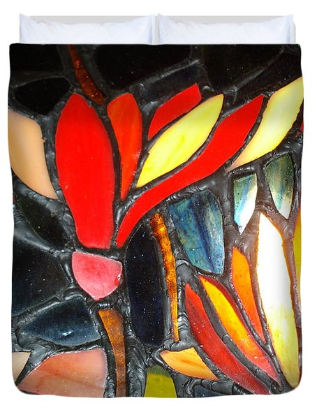 Stained Glass Four Duvet Cover