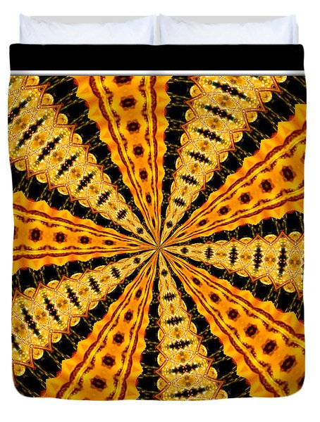 Stained Glass Kaleidoscope 37 Duvet Cover by Rose Santuci-Sofranko
