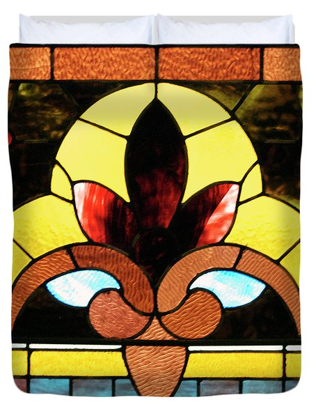 Stained Glass Lc 07 Duvet Cover by Thomas Woolworth