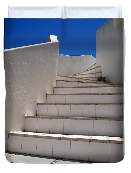 Duvet Cover featuring the photograph Stair To The Sky by Michael Canning