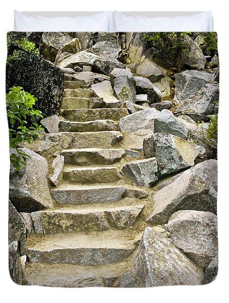 Staircase To Eagle Falls Lake Tahoe Duvet Cover by LeeAnn McLaneGoetz McLaneGoetzStudioLLCcom