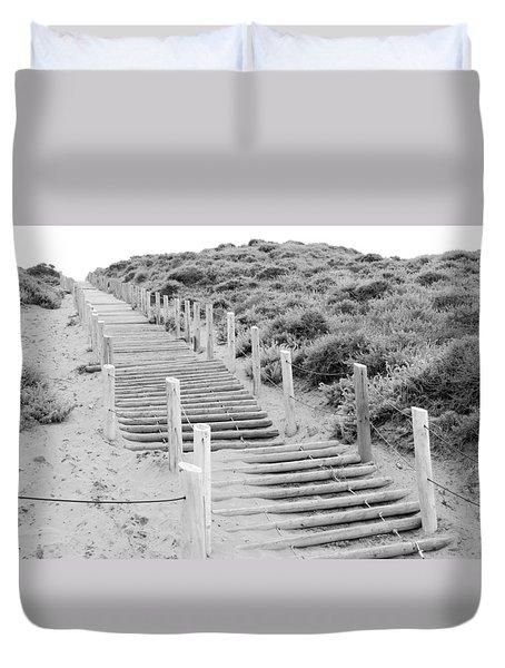 Stairs At Baker Beach Duvet Cover