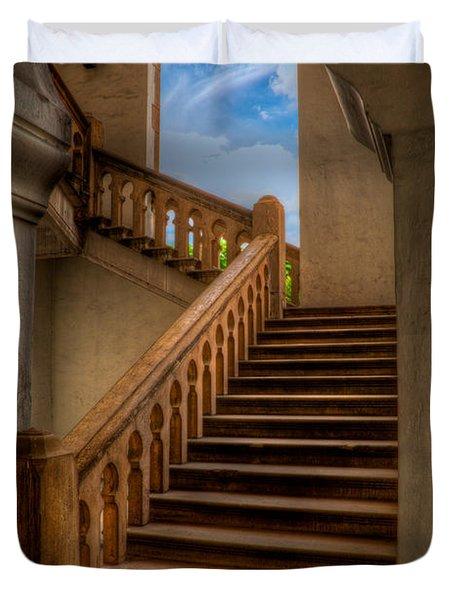 Stairway To Heaven Duvet Cover by Adrian Evans