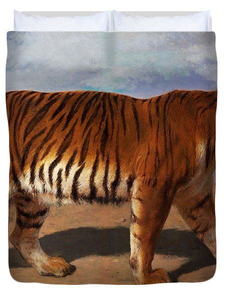 Stalking Tiger Duvet Cover