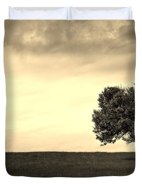 Stand Alone Tree 1 Duvet Cover by Sumit Mehndiratta