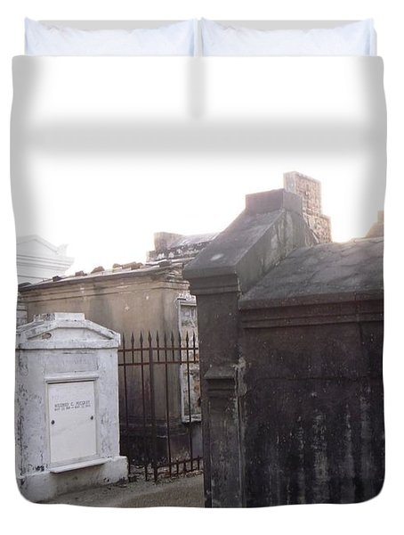 Duvet Cover featuring the photograph Standing Guard by Alys Caviness-Gober