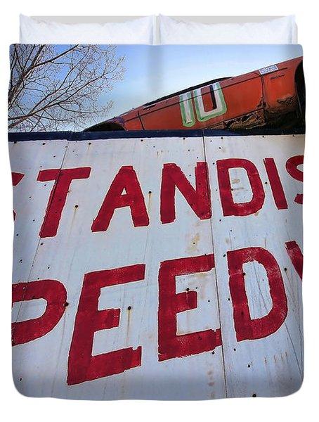 Standish Speedway Duvet Cover by Gordon Dean II