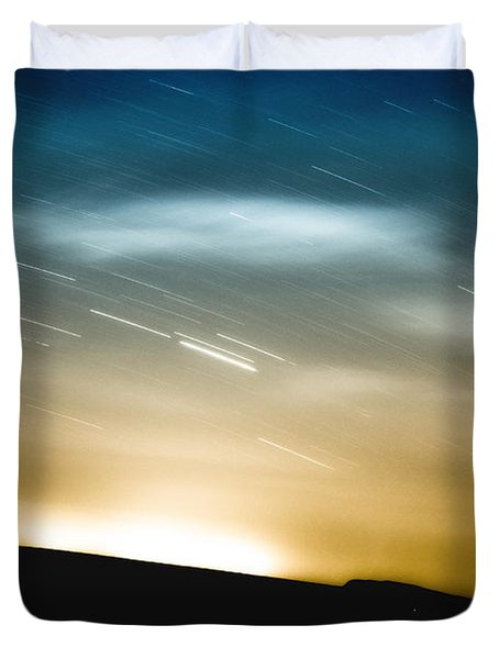Star Trails Duvet Cover by Roth Ritter