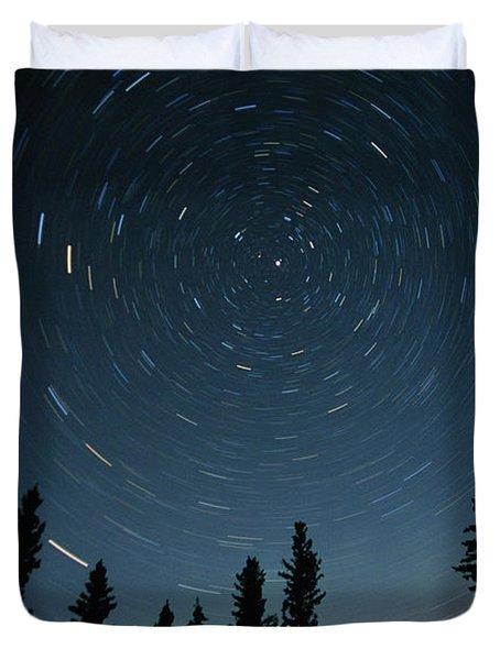 Star Trails, Sandilands Provincial Duvet Cover by Mike Grandmailson