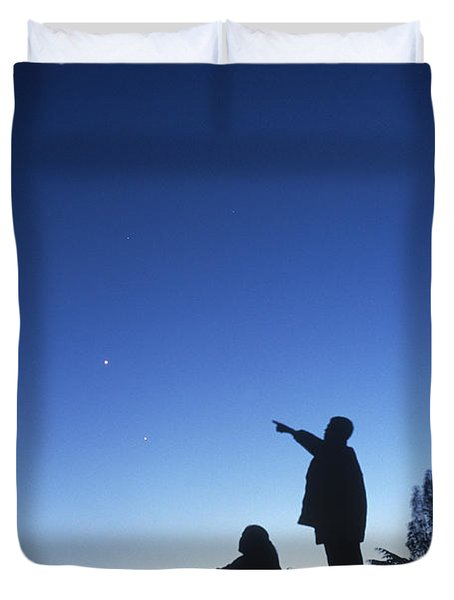 Stargazing Duvet Cover by Science Source
