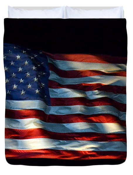 Stars And Stripes At Night Duvet Cover