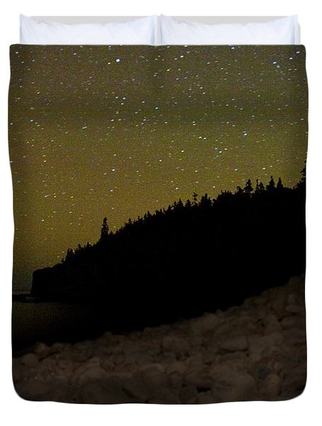 Duvet Cover featuring the photograph Stars Over Otter Cliffs by Brent L Ander