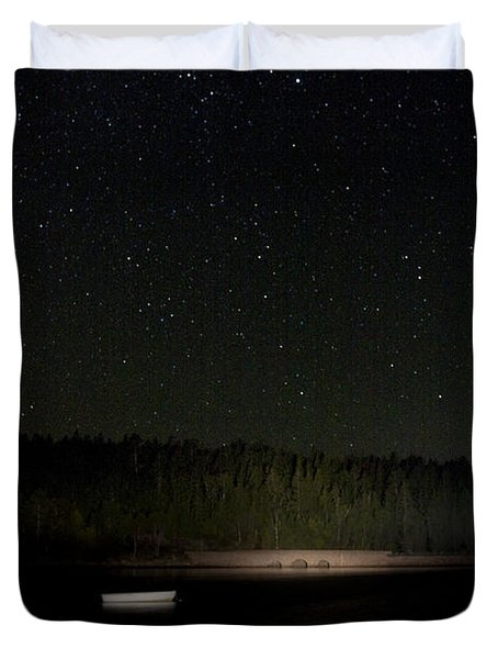 Duvet Cover featuring the photograph Stars Over Otter Cove by Brent L Ander