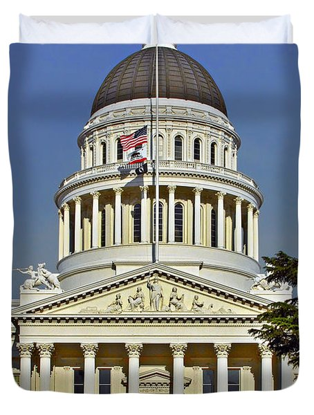 State Capitol Building Sacramento California Duvet Cover by Christine Till