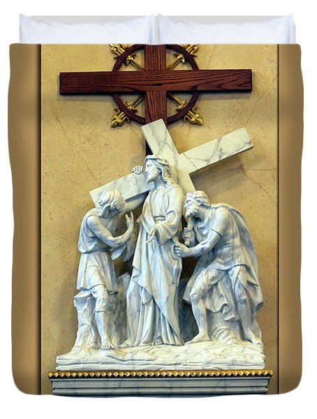 Station Of The Cross 02 Duvet Cover by Thomas Woolworth