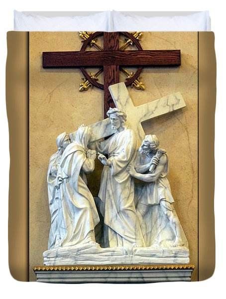 Station Of The Cross 04 Duvet Cover by Thomas Woolworth