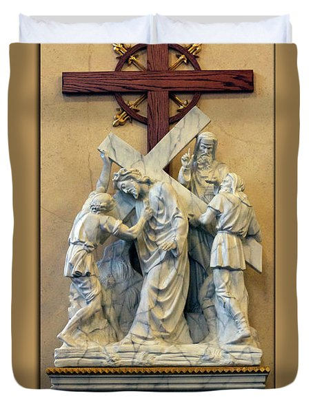 Station Of The Cross 05 Duvet Cover by Thomas Woolworth