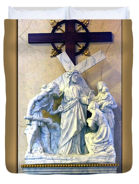 Station Of The Cross 08 Duvet Cover by Thomas Woolworth