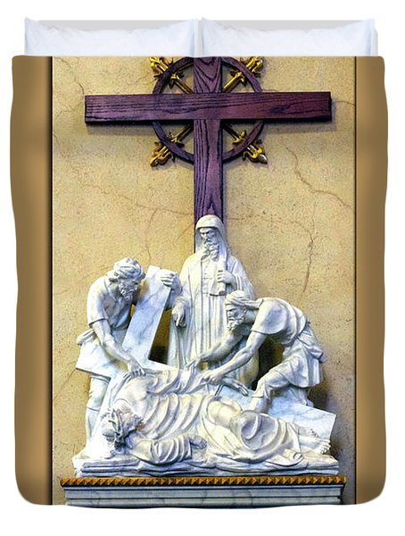 Station Of The Cross 09 Duvet Cover by Thomas Woolworth