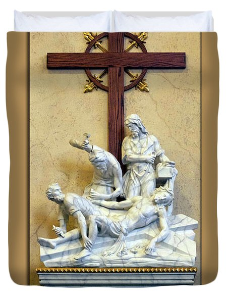 Station Of The Cross 11 Duvet Cover by Thomas Woolworth