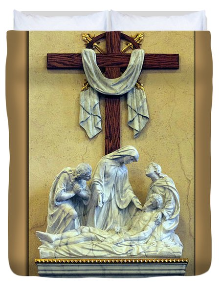 Station Of The Cross 13 Duvet Cover by Thomas Woolworth