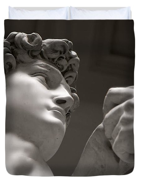 Statue Of David Duvet Cover