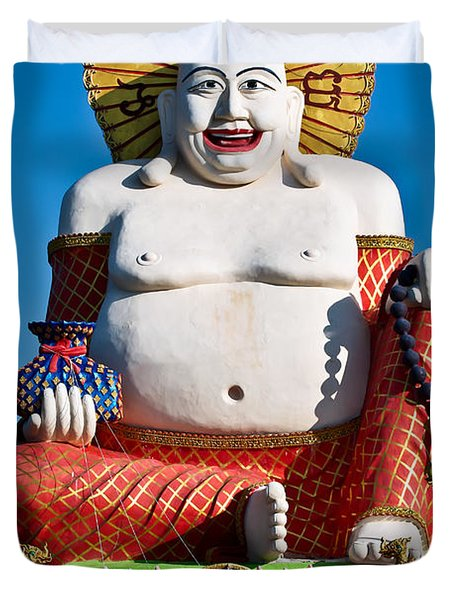 Statue Of Shiva Duvet Cover by Adrian Evans