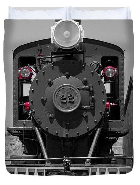 Duvet Cover featuring the photograph Steam Engine Train by Deniece Platt