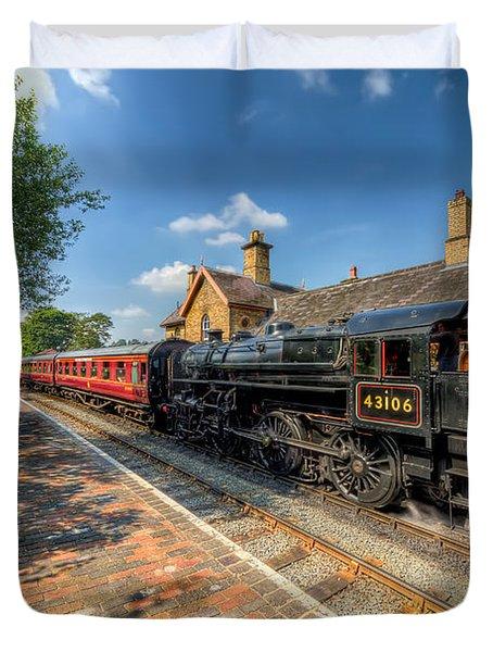 Steam Train Duvet Cover by Adrian Evans