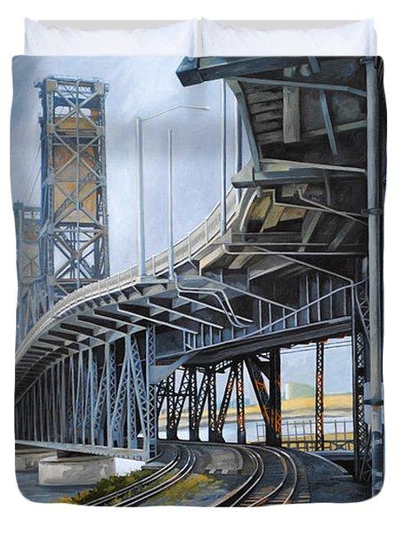 Steel Bridge 2012 Duvet Cover