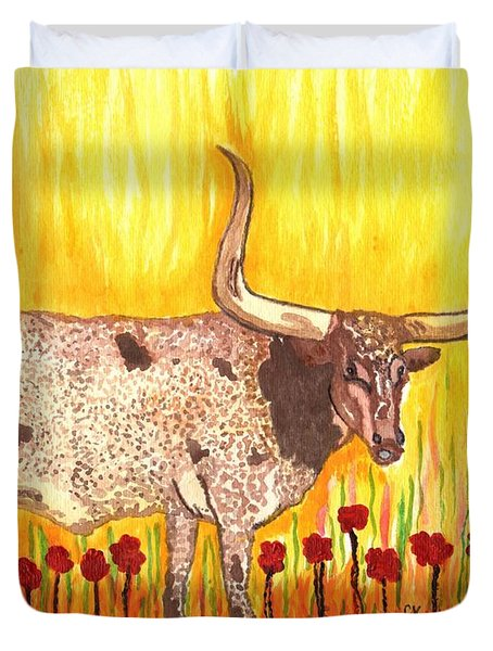 Steer Clear Duvet Cover by Connie Valasco