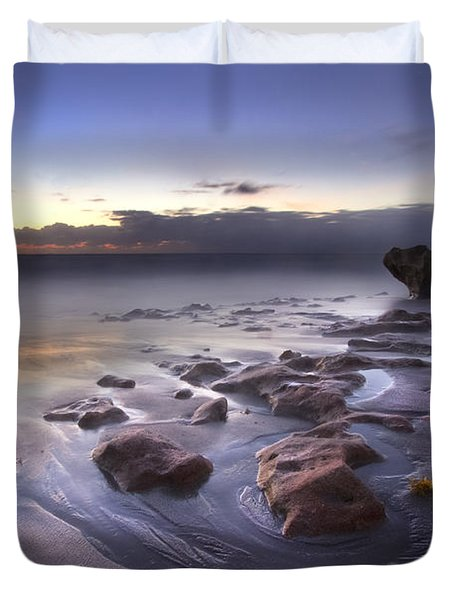 Stepping Stones Duvet Cover by Debra and Dave Vanderlaan